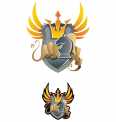 chess heraldic emblem vector image vector image
