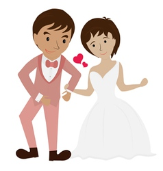 couple wedding 1 vector image vector image