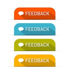 Feedback Icons Set Isolated on White Background vector image vector image