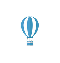 hot air balloon flat icon travel tourism vector image vector image