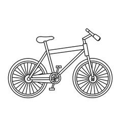 monochrome contour of sport bike in white vector image vector image