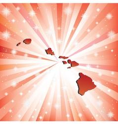 Red hawaii vector