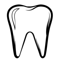 tooth icon cartoon vector image