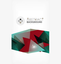 triangle design business template with lights vector image