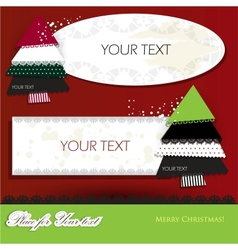 Elegant christmas background with paper bubbles vector image