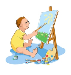 Painting boy vector image vector image