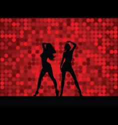sexy female dancers vector image vector image
