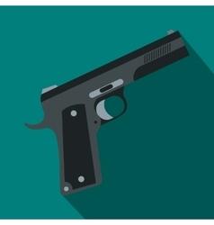 Gun icon flat style vector image vector image