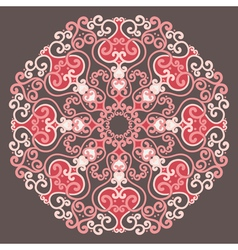 Ornamental round lace in fantasy style vector image vector image