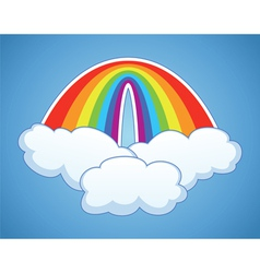 rainbow arc and clouds vector image vector image