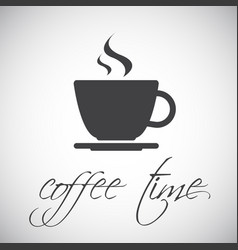 simple cup of coffee icon vector image vector image