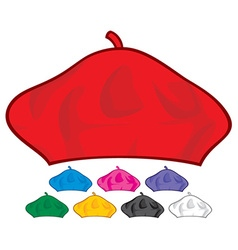 beret collection vector image
