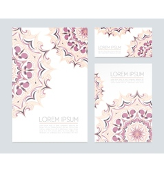 Business cards with floral ornaments vector image vector image