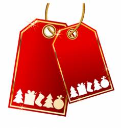 Christmas gift tags vector image vector image