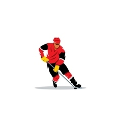 Hockey sign Player with the stick dribbling vector image