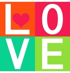 Love typography t-shirt graphics vector image