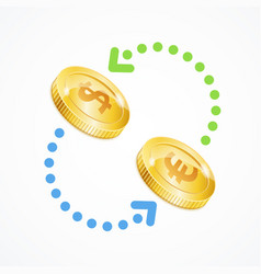 money currency exchange concept vector image vector image