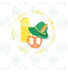 oktoberfest leaflet with no text vector image vector image