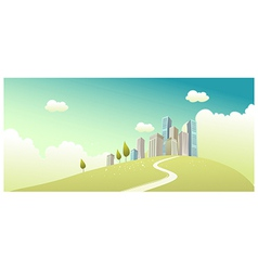 Path towards city vector image vector image