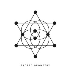 sacred geometry sign tattoo isolated on white vector image