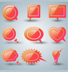 set red speech icon dialog box icon vector image vector image