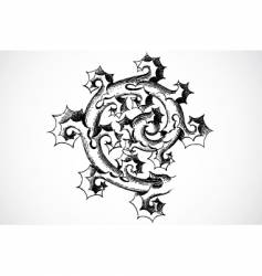 thorn ornament vector image vector image