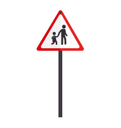 triangle contour road sign for students school vector image