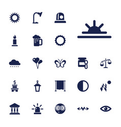 22 light icons vector