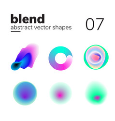 Abstract chaotic shape form for your design vector