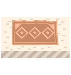 Abstract geometric tribal print on carpet fabric vector
