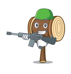 Army mallet character cartoon style vector