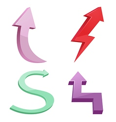 Arrow Direction Design Color Set vector image