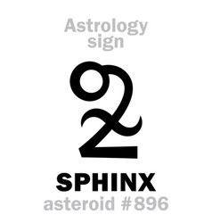 Astrology asteroid sphinx vector