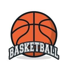 Ball of Basketball sport design vector image