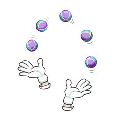 Balls for juggling isolated icon vector