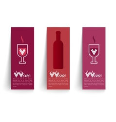 Banners set on wines vector image