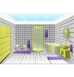 bathroom interior vector image