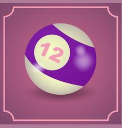 Billiard ball - realistic design vector