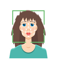 Biometric security identification face vector