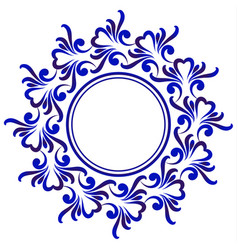 Blue decorative round vector
