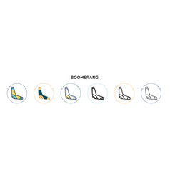 Boomerang icon in filled thin line outline and vector
