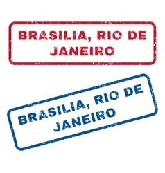 Brasilia rio de janeiro rubber stamps vector