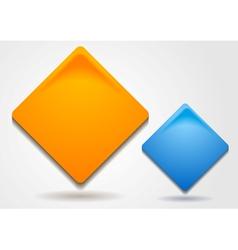 Bright squares design vector image