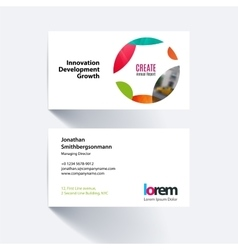 Business card template with circle soft vector