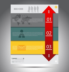 Business infographic elements vector image