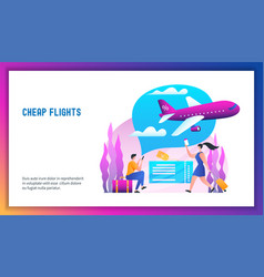 cheap flights concept vector image