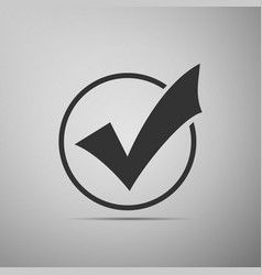 check list button icon check mark in round sign vector image