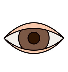 Color sketch silhouette eye symbol browser vector