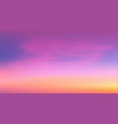 colorful tropic sunrise sky vector image