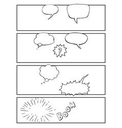 Comic sketchbook page vector